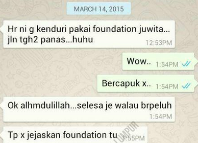 testimoni juwita foundation