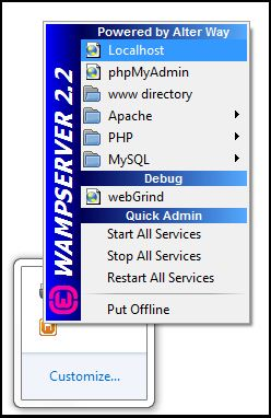 Wamp server offline red to green