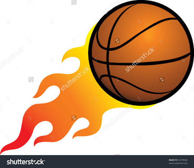 Flaming Basketball Stock Vector   Shutterstock
