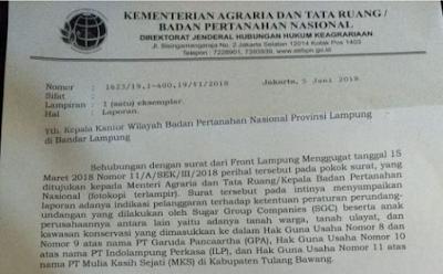 Kementerian Agraria dan Tata Ruang/ BPN Sikapi Pengaduan FLM Terkait SGC