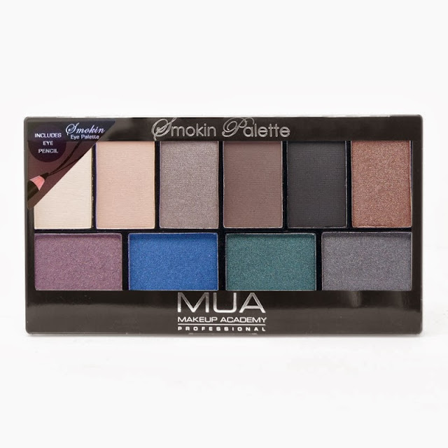 MUA Smokin Palette is a dupe for Urban Decay Smoked (Review and Swatches)