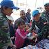 Prajurit TNI Bagikan Perlengkapan Sekolah di Desa Ghandouriyah, Lebanon Selatan