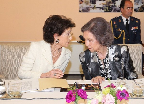 Queen Sofia of Spain attended the board meeting of the Queen Sofía College of Music. Queen Sofía, is the honorary president of the College of Music