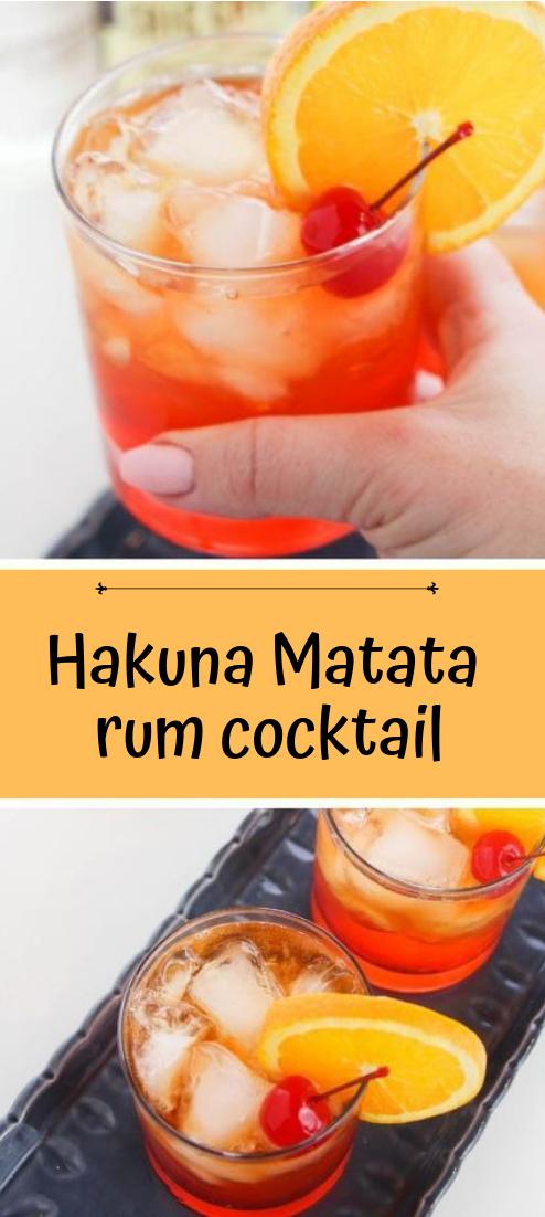 Hakuna Matata rum cocktail #cocktail #smoothie