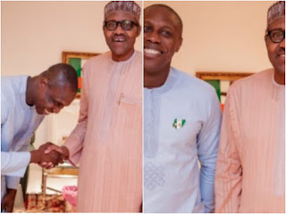 Olujonwo and President Buhari
