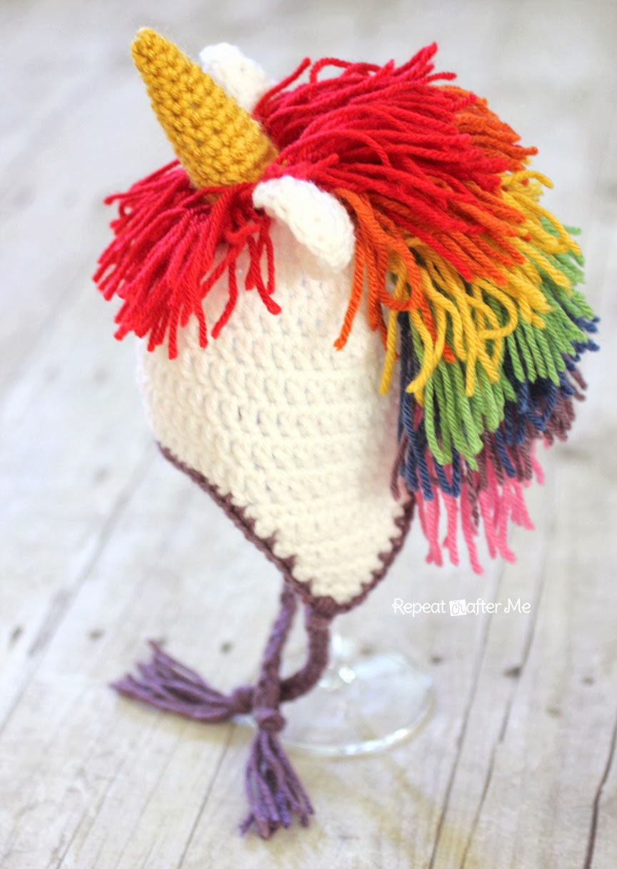 3bfc20f5042 Crochet Unicorn Hat Pattern - Repeat Crafter Me