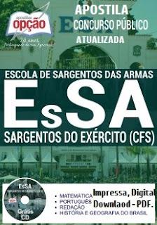 Apostila concurso EsSA Exercito 2017 para o Cursos de Formação de Sargentos - CFS 2018