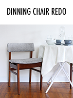 Dining nook chair redo