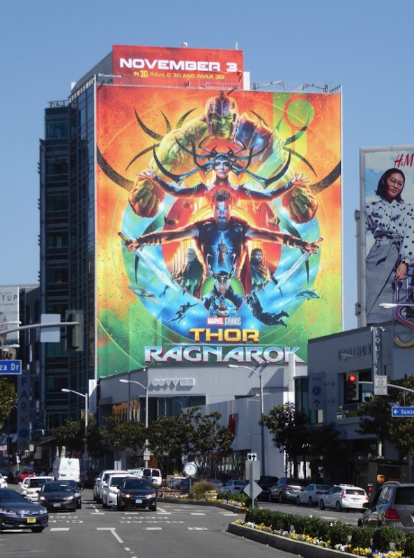 Thor Ragnarok movie billboard