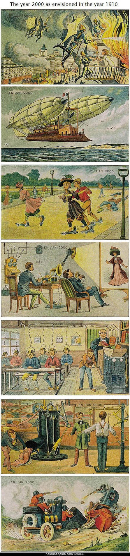 year 2000 envisioned in 1910