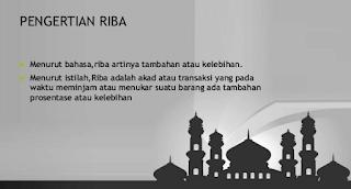 Pengertian Riba Dalam Pandangan Islam Dan Contohnya