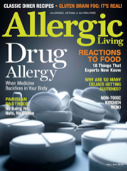 I was featured in the 2014 fall issue of Allergic Living magazine :)! Be sure to subscribe to it!