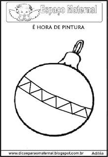 Desenho bola natal colorir
