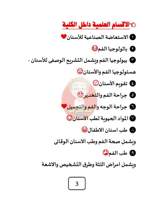 كليه طب الاسنان اقسامها ومواد الدراسه واهم المميزات والعيوب