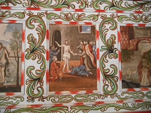 kościół, Pogorzeliska, malowidła, ornamenty