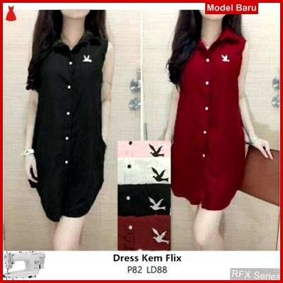 RFX046 MODEL DRESS KEM KATUN RAYON ADEM FIT L MURAH ONLINE