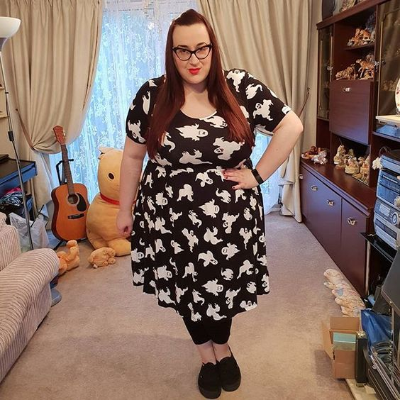 ASOS Curve Ghost dress