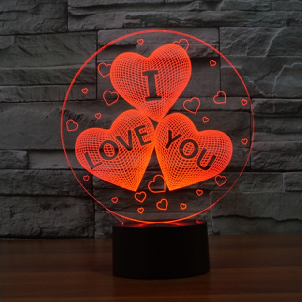 3D I LOVE YOU LED Lamba