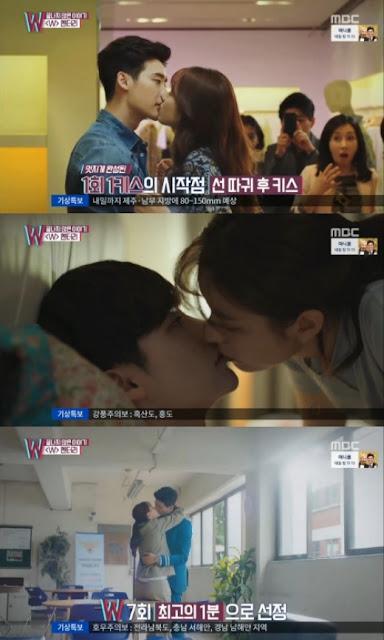 Lee Jong Suk dan Han Hyo Joo di 'W-Two Worlds' 3 Kiss Terbaik Pilihan