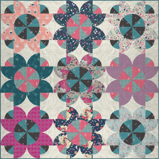 Flower Crowns Quilt Free Pattern