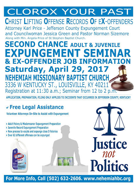 Nehemiah Baptist Church Hosts Expungement Seminar This Saturday