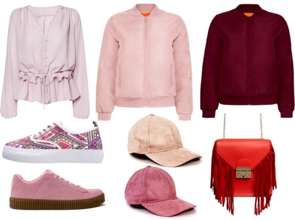 Spring 2016 Fashion Wishlist Pink Bomber Jacket Suede Cap