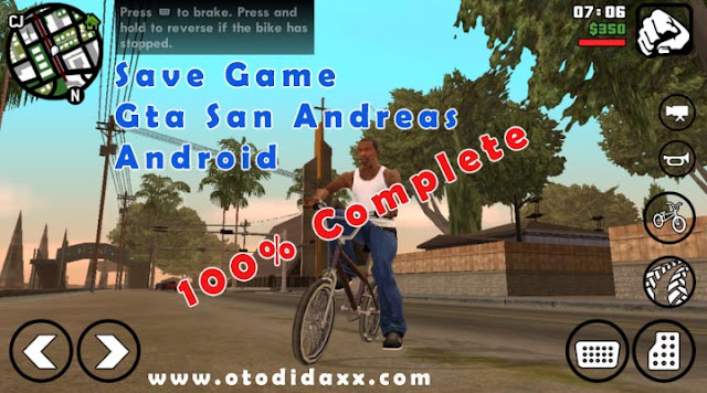 Save Game GTA San Andreas Langsung Tamat