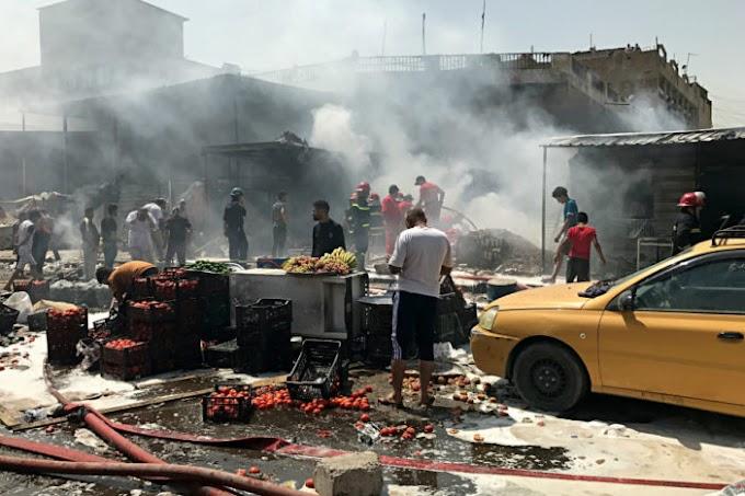Mueren al menos 12 personas al estallar coche bomba en un mercado de Bagdad