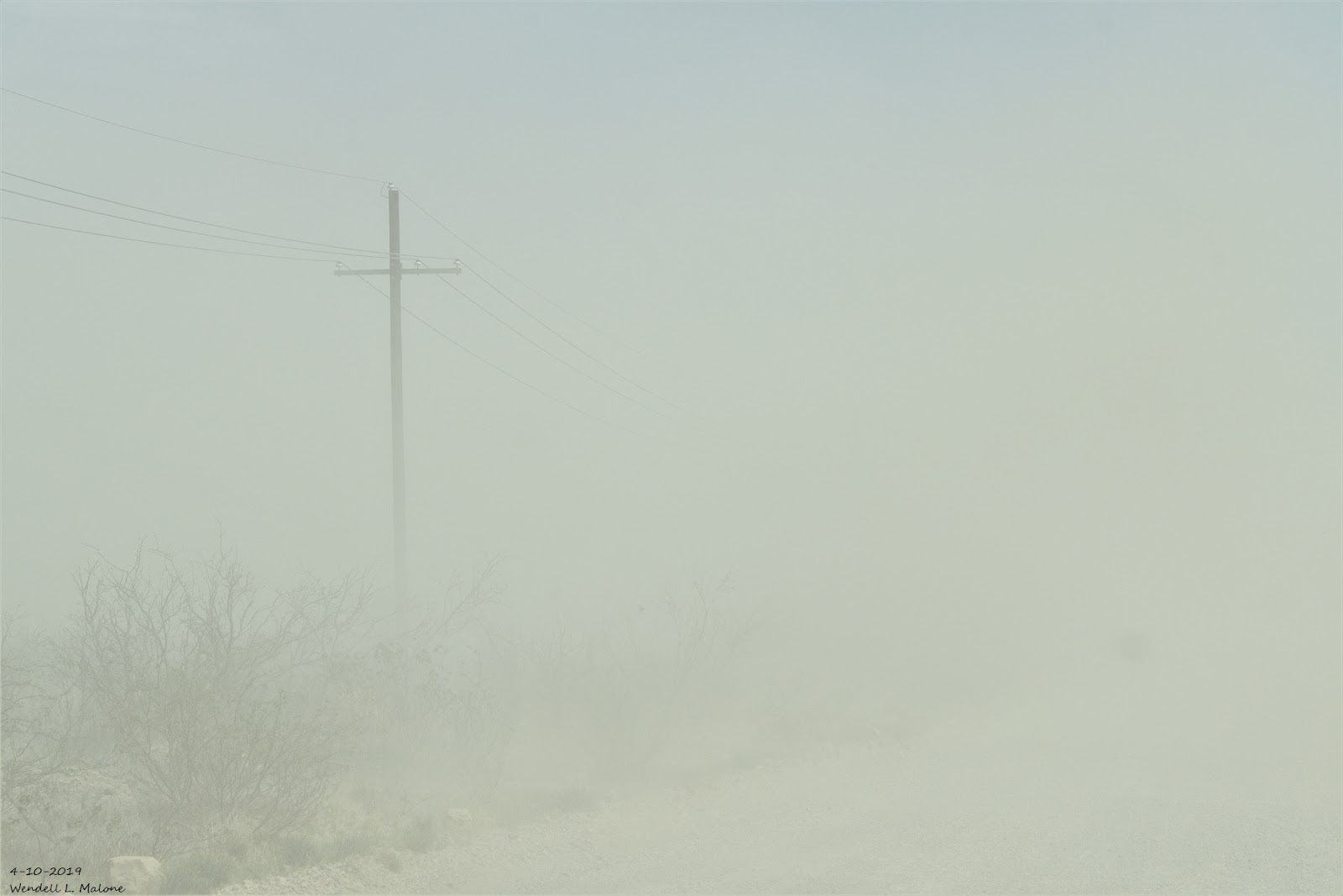 Summary Of The High Wind/Blowing Dust Event - Wednesday