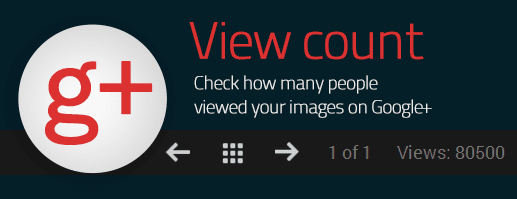 How many people viewed your image on google+