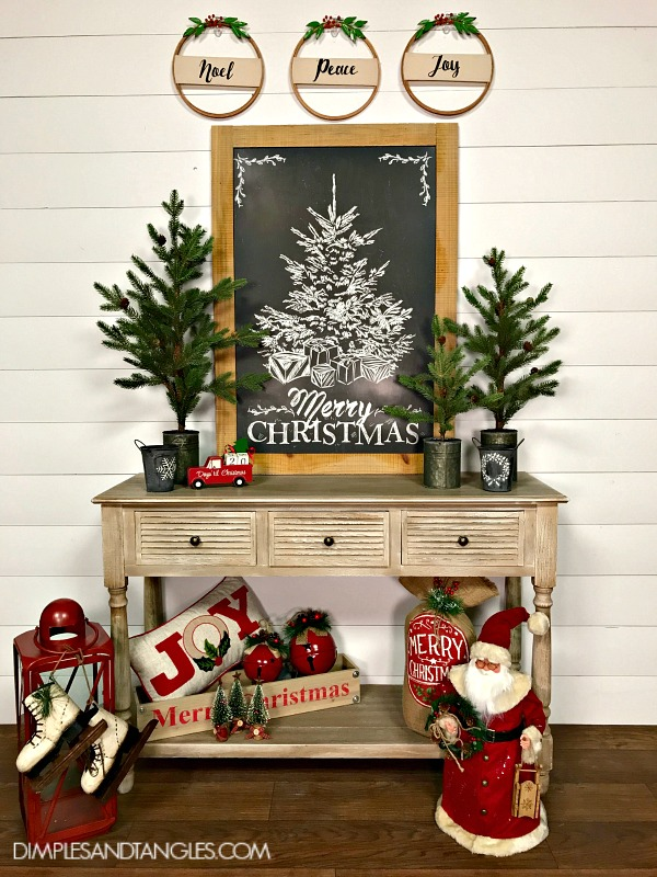 ... The Little Red Truck On The Table, There Are Number Blocks That Fit In  It To Tell How Many Days There Are Until Christmas (by The Way 105 From  Today!)