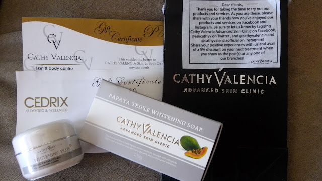 I love to try Cathy Valencia Skin and Body Centre and Cedrix Slimming and Wellness srvices, Papaya Triple Whitening Soap, Overall Fairness Cream!