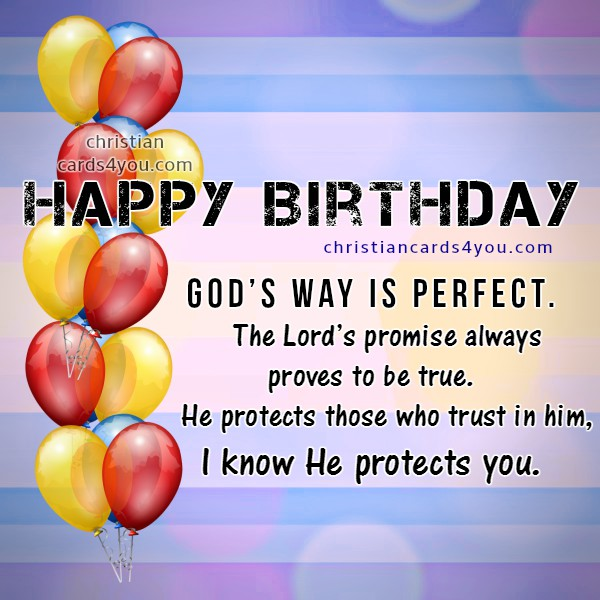 Happy Birthday Wishes Enjoy Gods Blessings – Christian Birthday Verses for Cards