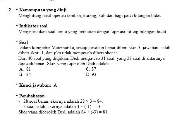 Soal Latihan UN Matematika Kelas IX SMP  Imron