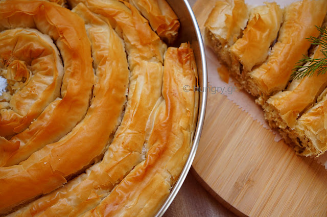 Spiral-Shaped Greek Cheese Pie