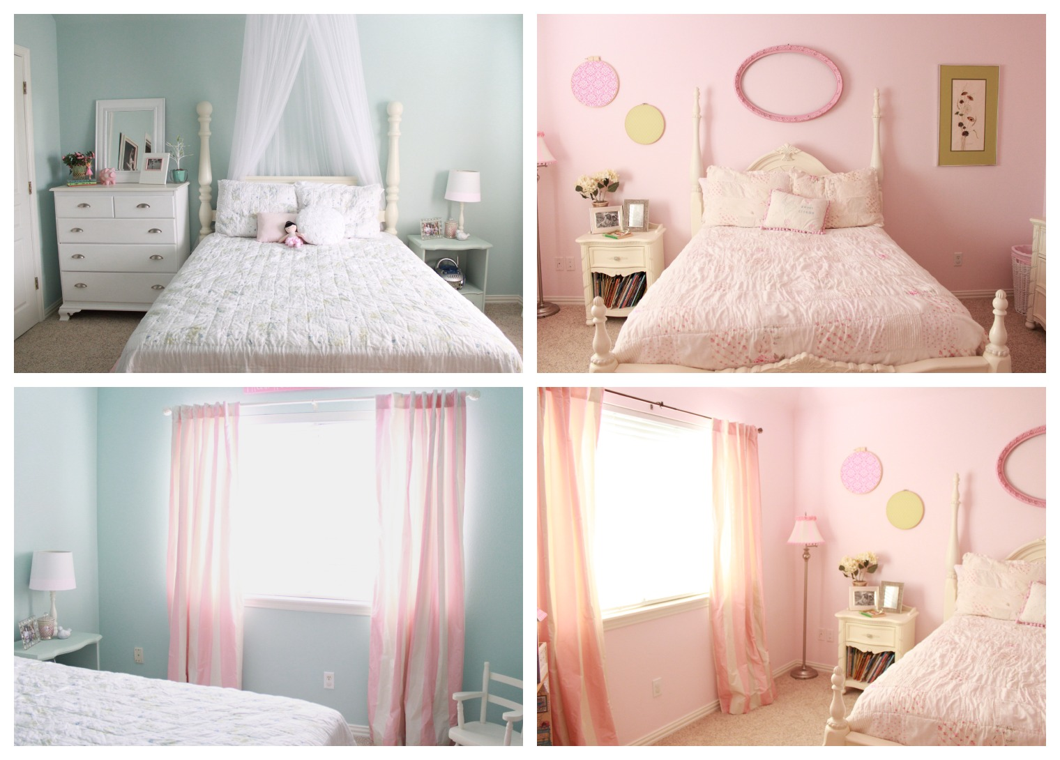 Crafty Texas Girls: Pretty In Pink: Shabby Chic Bedroom