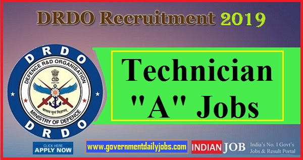DRDO Recruitment 2019: DRDO CEPTAM Invites Applications for 351 Technician