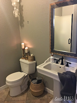half bath powder room makeover