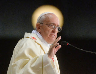 Pope Francis with halo