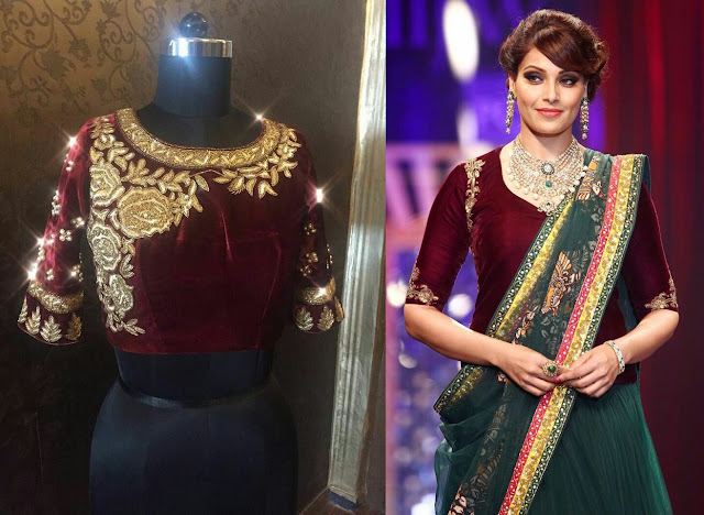 Velvet Saree Blouse