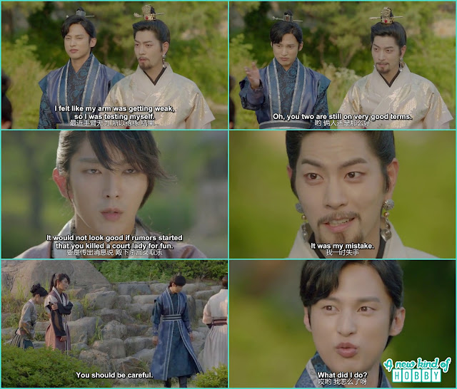 4th Prince then warn 9th Prince as he is the conspirator in the palace and also king yo to be careful not to let rumor out he killed a court lady for fun  - Moon Lovers Scarlet Heart Ryeo - Episode 16 Review (Eng Sub)