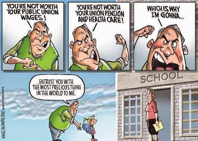 Image result for vilifying teachers