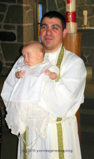 My great-nephew Jonathan at his baptism