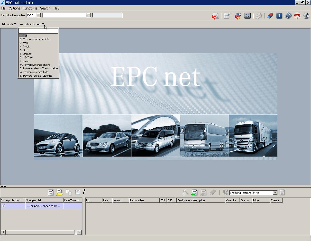 AutoParts Catalogs: MERCEDES EPC NET/WIS/ASRA (Daimler AG)