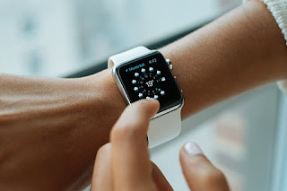 Impatient woman checking her watch