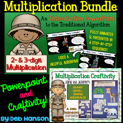 Teach the steps of multi-digit multiplication with this PowerPoint and matching craftivity!