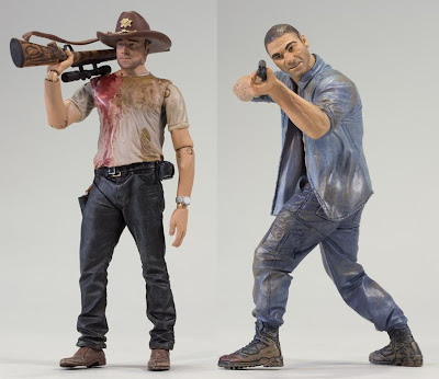 The Walking Dead Television Series 2 by McFarlane Toys - Deputy Rick Grimes & Shane Walsh Action Figures