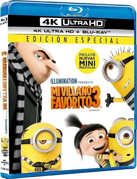 Mi Villano Favorito 3 4K (2017) 2160p 4K UltraHD HDR BDRip 15GB mkv Dual Audio DTS-X 7.1 ch