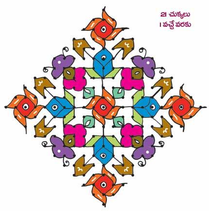 Happy Sankranti muggulu with latest design