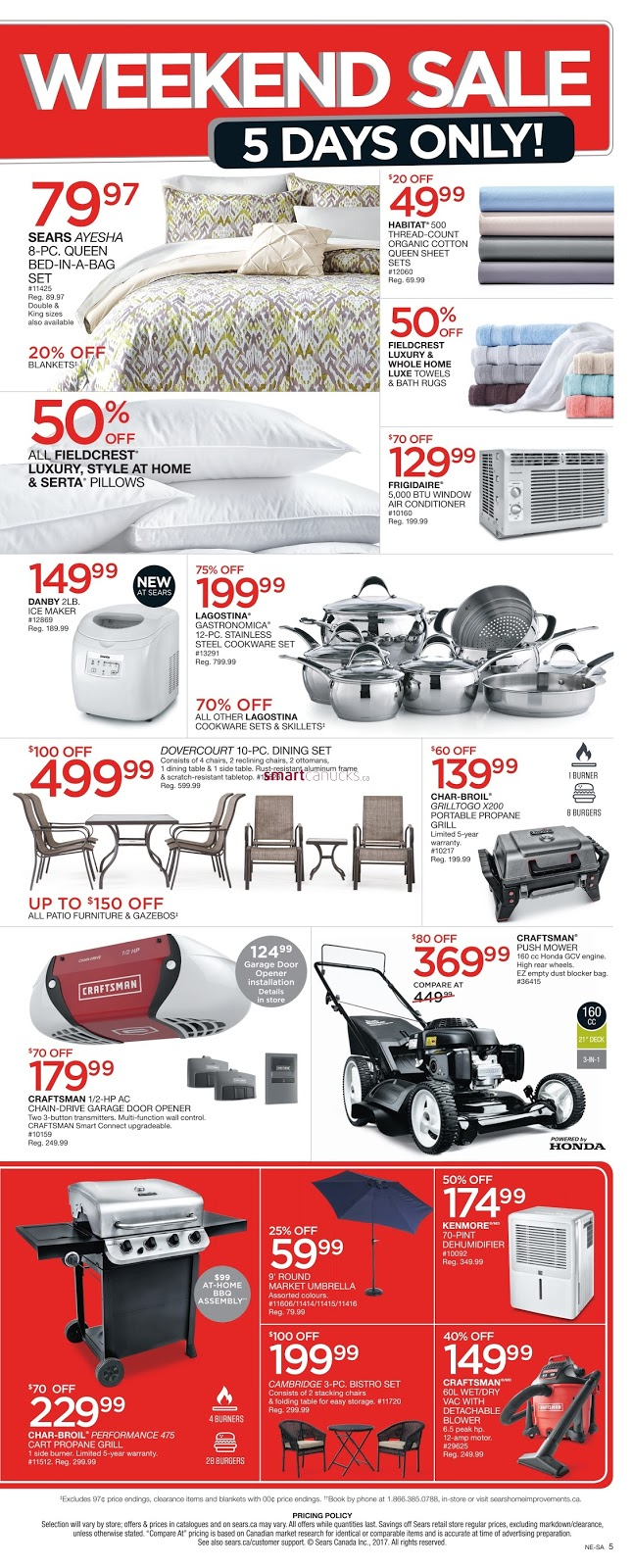 Sears Furniture Kitchener Sears Flyer May 18 22 2017 Weekly Flyers Canada